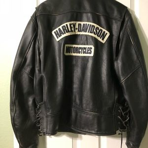Men's leather Harley Davidson coat